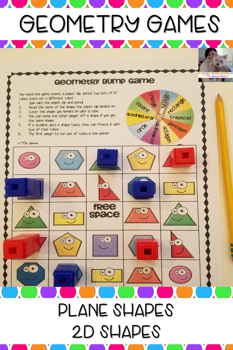 This Game Helps Students To Practice Naming And Recognizing Basic Plane 2d Shapes And Their Attributes T Geometry Games Education Math Elementary Activities [ 1152 x 768 Pixel ]