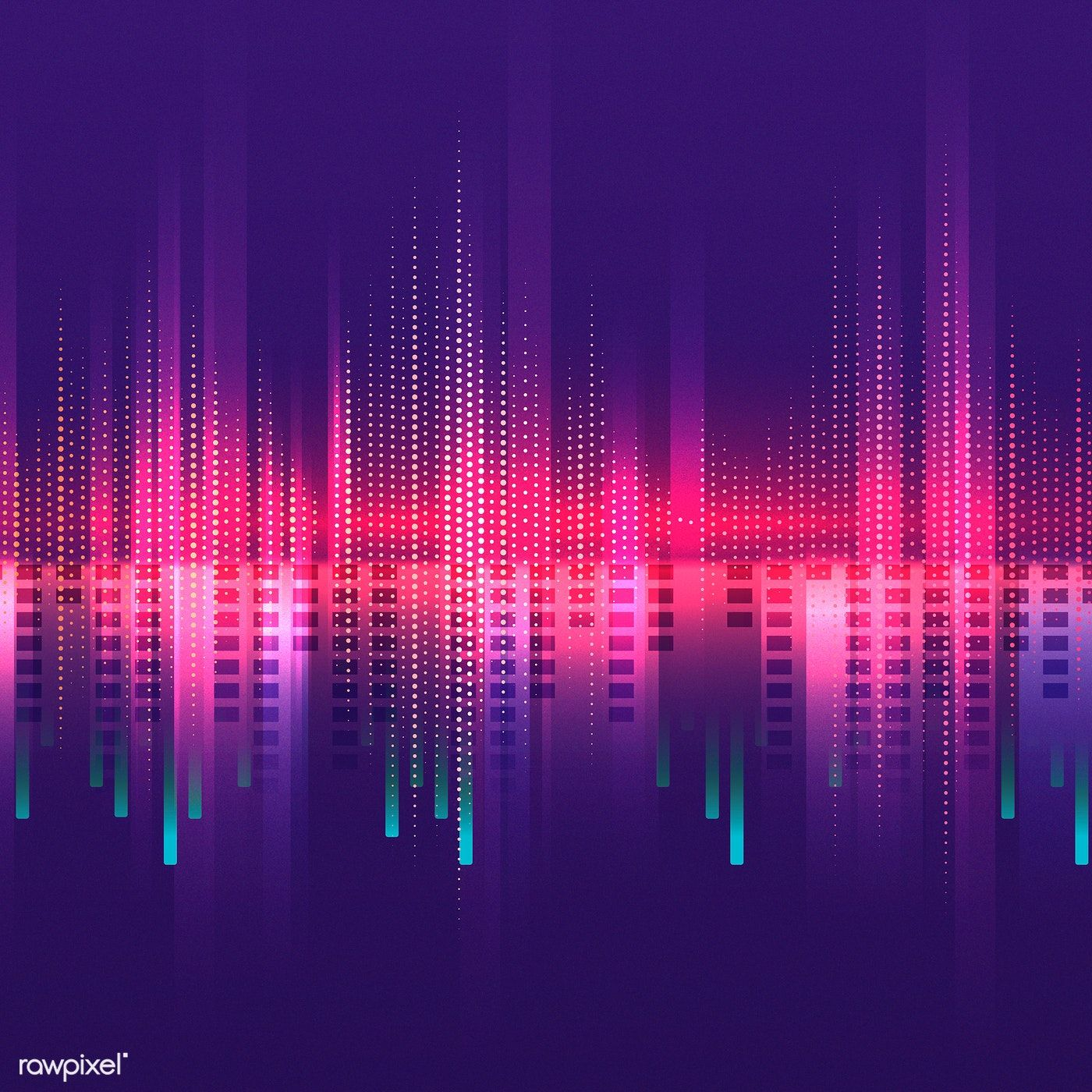 Pink equalizer pattern background vector   free image by
