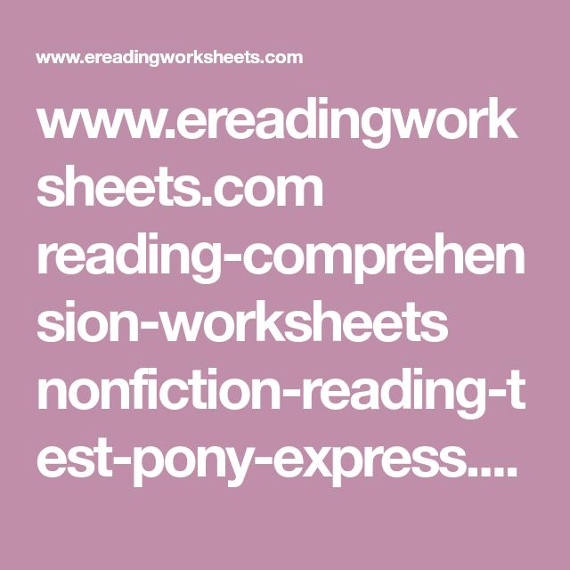 Ereadingworksheets Reading Comprehension Worksheets
