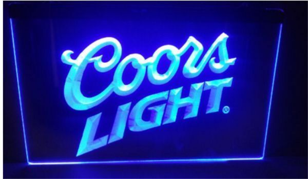 Coors Light Beer Bar Pub 3d Signs Led Neon Light Sign School Office Man Cave Neon Light Signs Light Lager Coors Light