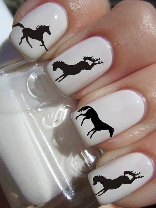 Silhouette Horse Nail Decals by PineGalaxy on Etsy, $4.50 | Etsy ...