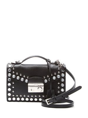 c75e980ef3d3 ... spain prada saffiano leather crystal flap small shoulder bag 5e421 4c0db