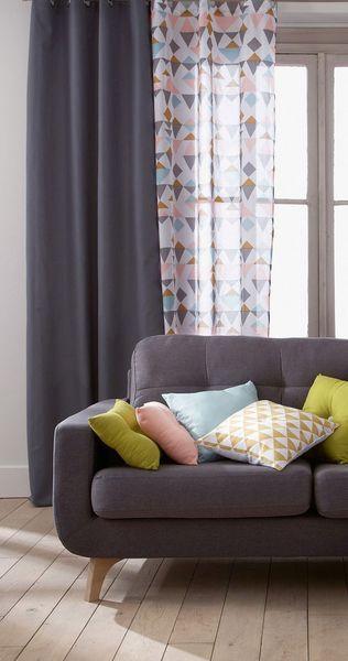 relooking salon pas cher vive les accessoires coussin geometrique voilages et salon. Black Bedroom Furniture Sets. Home Design Ideas