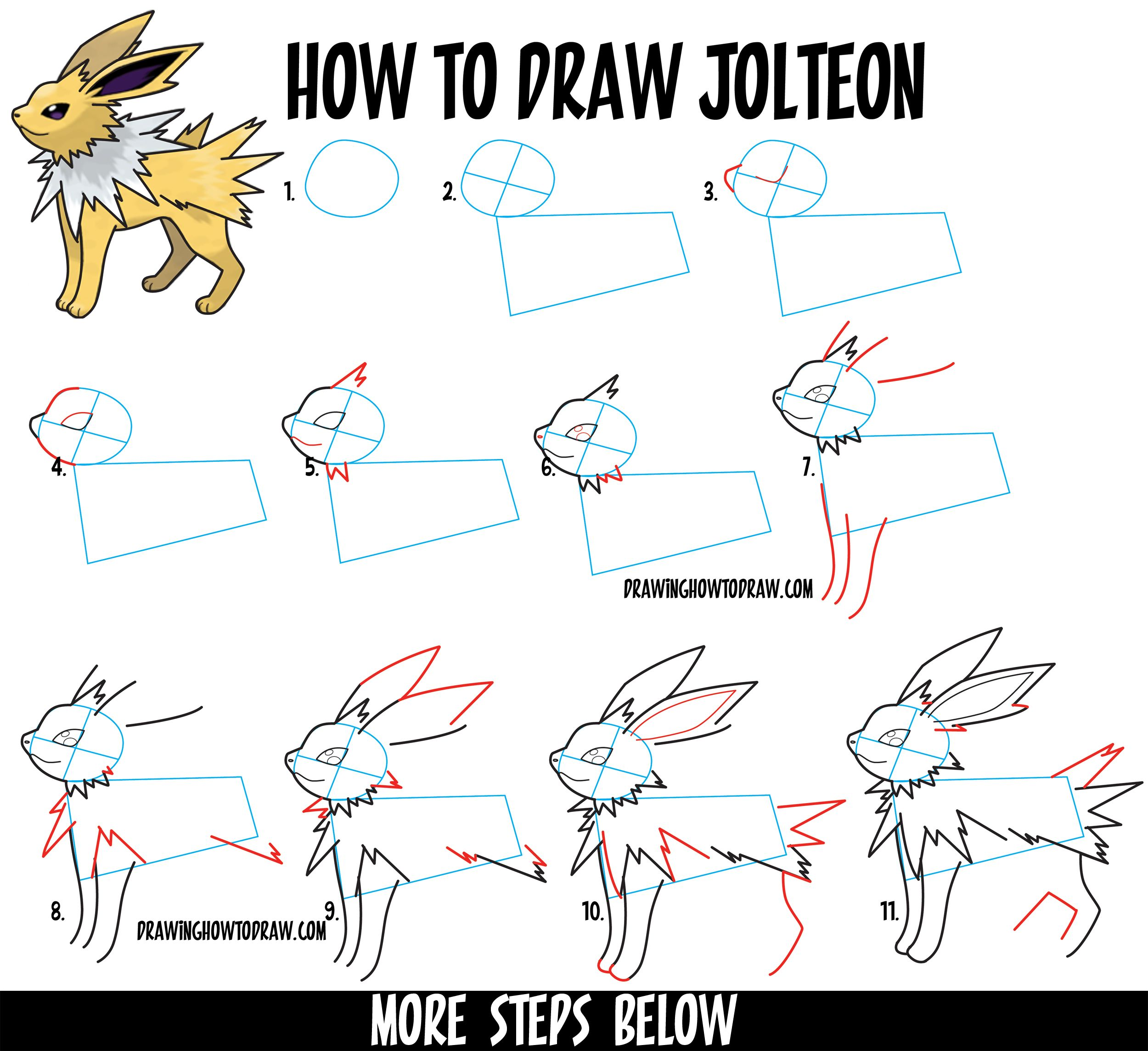 Uncategorized Learn Drawing For Kids Step By Step how to draw jolteon from pokemon in easy step by drawing tutorial for kids