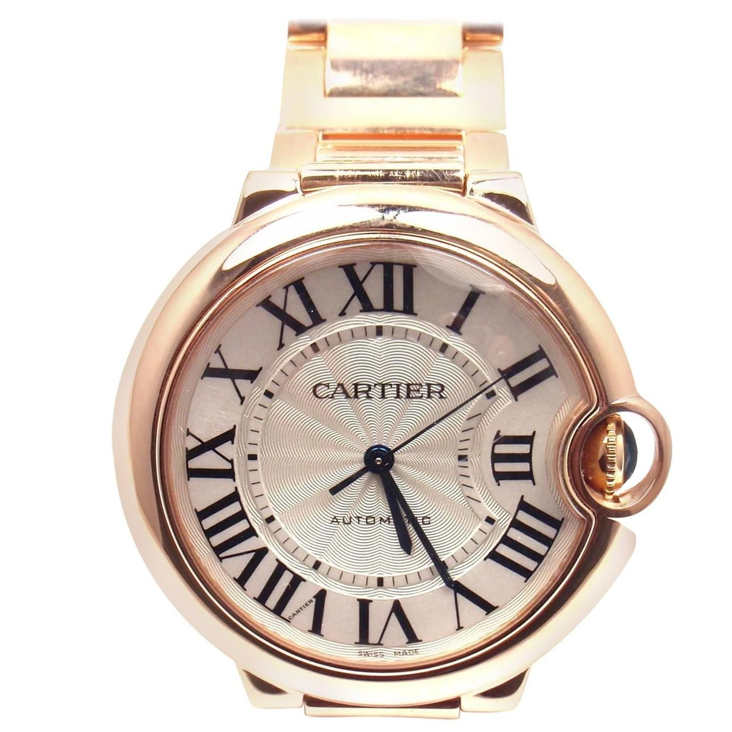 6fa5652b0202 Cartier Rose Gold Ballon Bleu Automatic Wristwatch Ref 3003