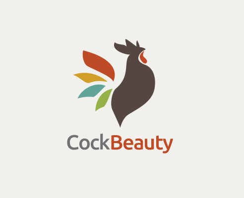 Beauty Cock, chicken, petal, leaf, fashion, animal, pattern, decoration, pattern, chicken Year,loglmaker logo