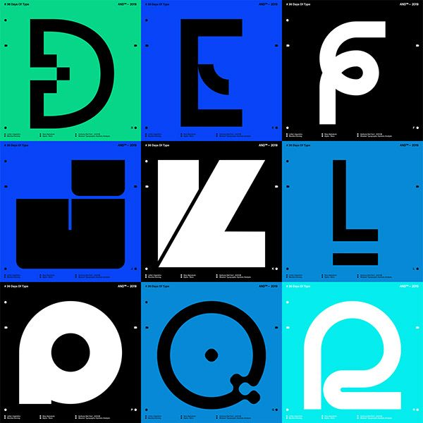 36 Days Of Type Typographic Singularity. on Behance 36