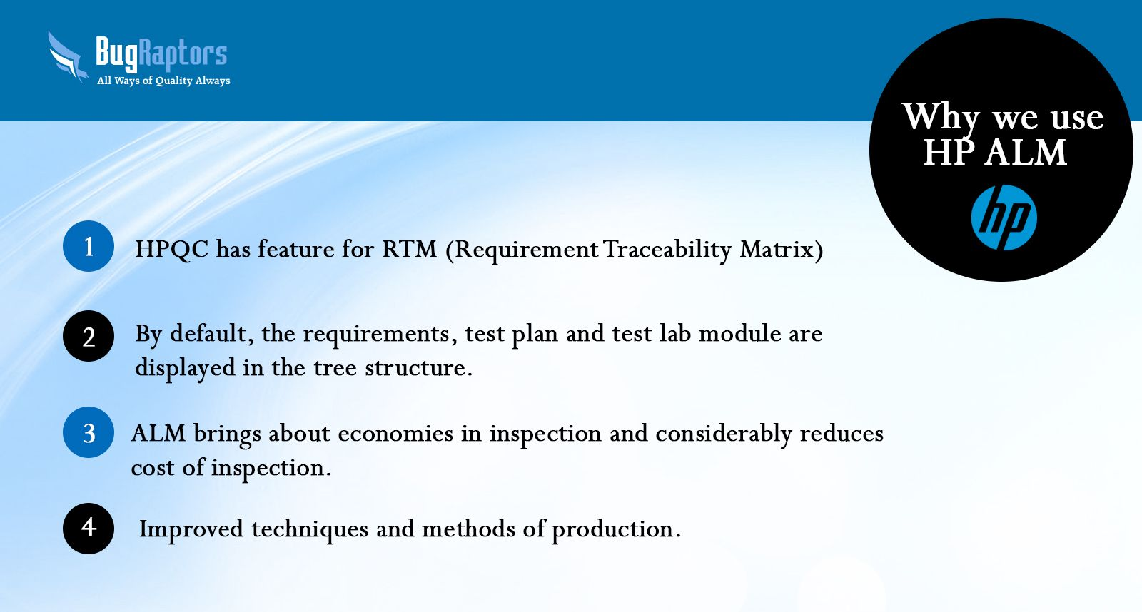 Why we use #HP #ALM? | Automated Software Testing Service