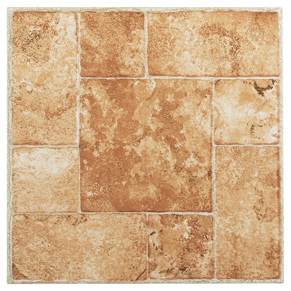 Nexus Self Adhesive Vinyl Floor Tile Beige Terracotta