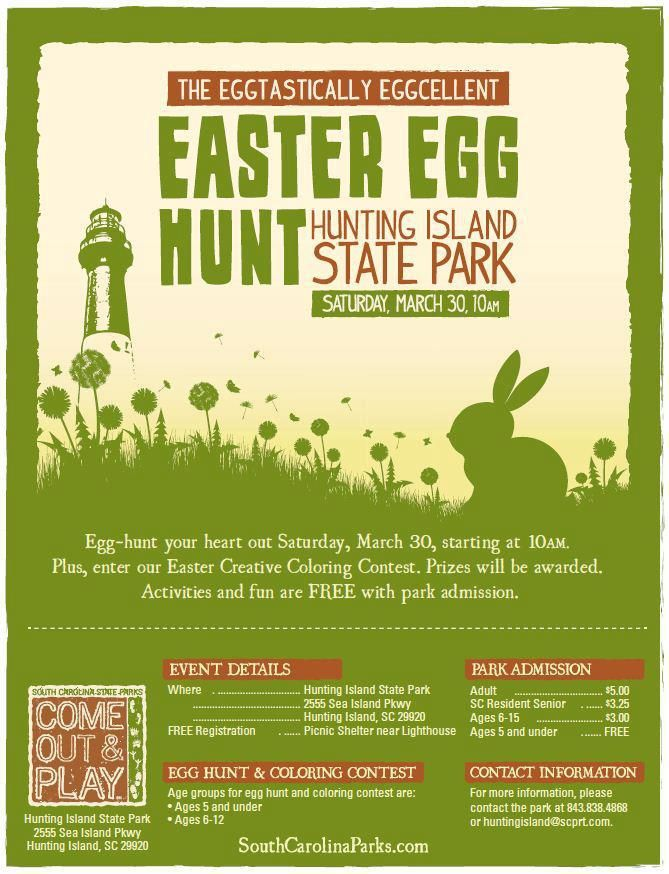Hunting Island Easter Egg Hunt March 30th At 10am Egg Hunt