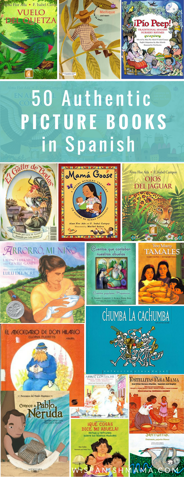 The Ultimate Guide to the Best Authentic Spanish Books for Kids #spanishthings