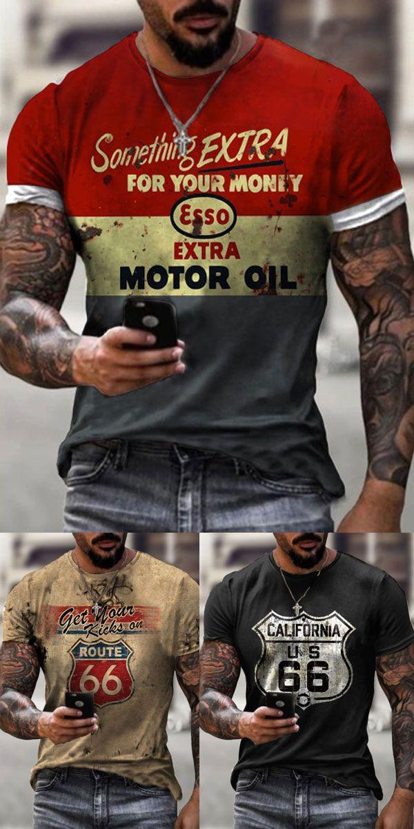 Summer Printed T-shirts Men