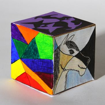 Elements of Art Cube Churchill High School - Visual Art 3D ...