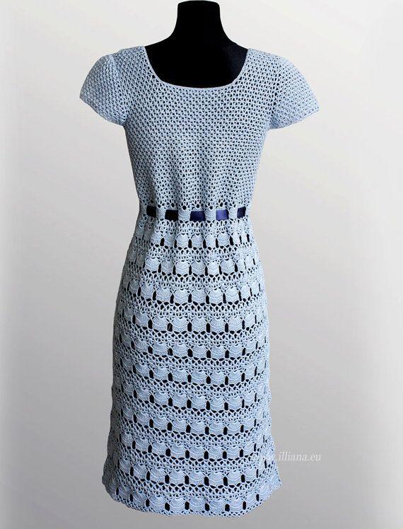 Crochet Dress Pattern No 239 por Illiana en Etsy | vestidos ...
