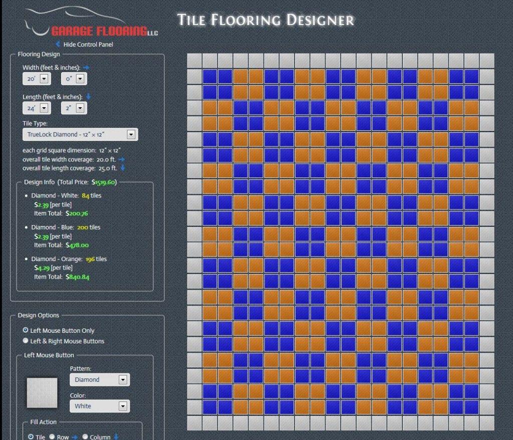 Garage Floor Tile Estimate Calculator Tile Floor Flooring Floor Tile Design