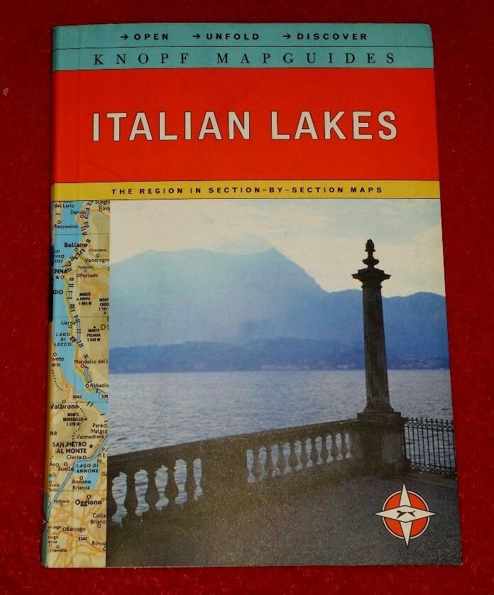 Knopf Mapguide Italian Lakes Open Unfold Discover Section by Section Maps Italy | eBay