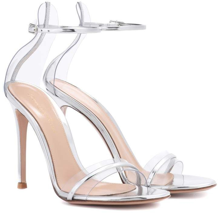 888b6c7a7b6 Gianvito Rossi G-String metallic leather sandals