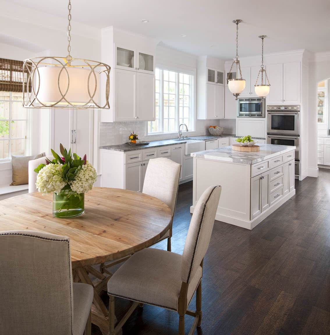 30 Beautiful And Inspiring Light Filled Kitchens With: Floor To Ceiling White Cabinet Granite Countertop Wooden