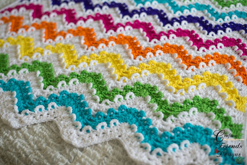 Loop the Loop Chevron Afghan Crochet Pattern | Pinterest | Dos ...
