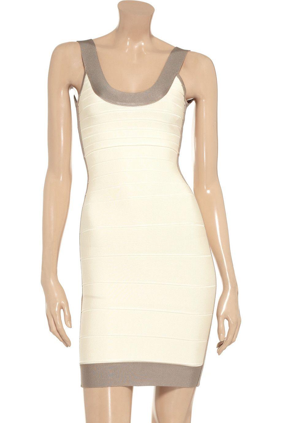 HervÉ lÉger paneled bandage dress original price now