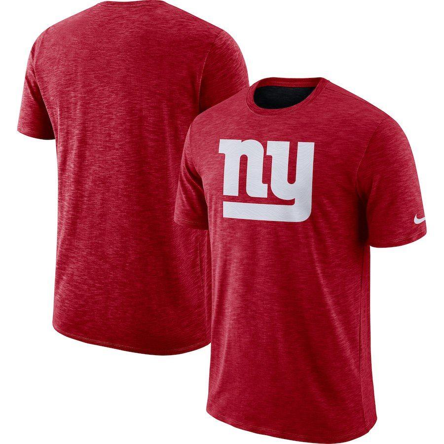 c6767d604 Men s New York Giants Nike Red Sideline Cotton Slub Performance T-Shirt