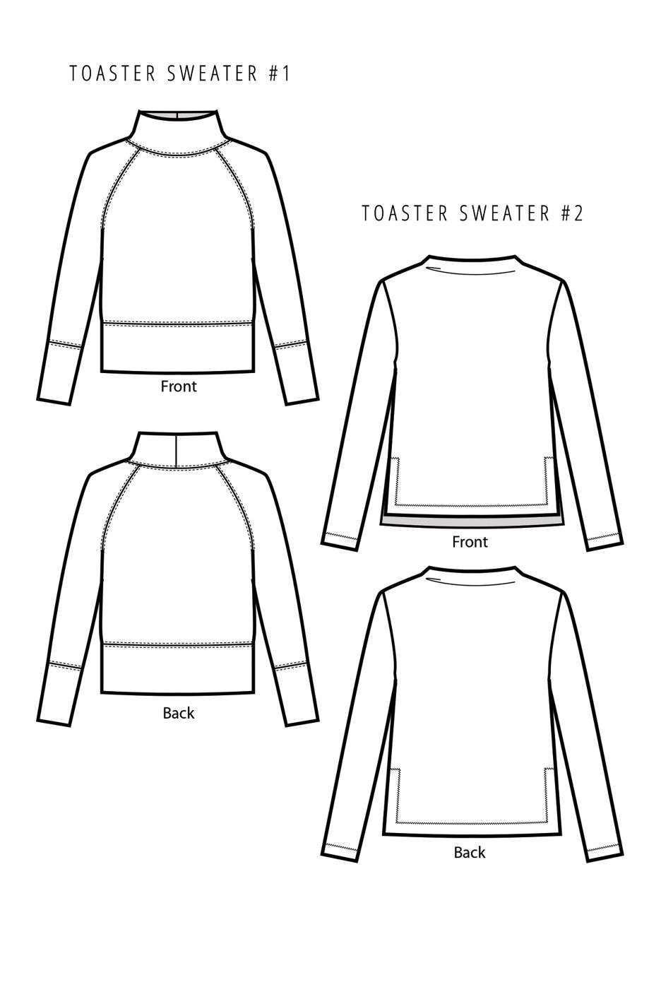 Toaster Sweaters Sewing Pattern by Sew House Seven | Pinterest ...