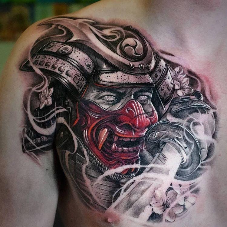 Amazing Tattoo By Jackson Booth Tattooslocation Australiafollow Realistic Ink For More Amazing Realis Samurai Tattoo Design Oriental Tattoo Warrior Tattoos