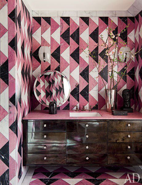 Kelly Wearstler Goes Mod With Pink And Black