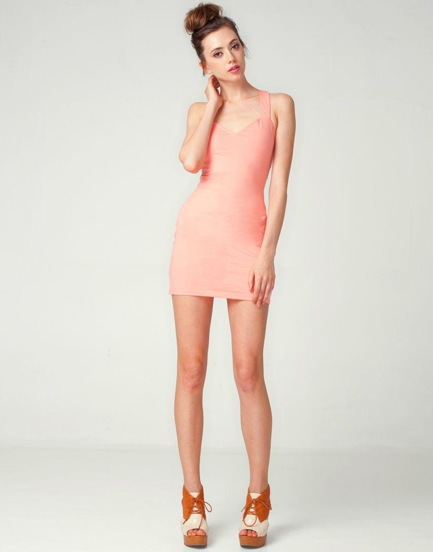 7a61e2c5b4ba Pin by Sonia Rumzi on Salmon Peach Coral   Dresses, Bodycon Dress ...
