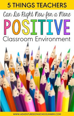Try these 5 strategies today for a more positive classroom environment. Simple, effective, and research-based. They have transformed my classroom in the best way possible!