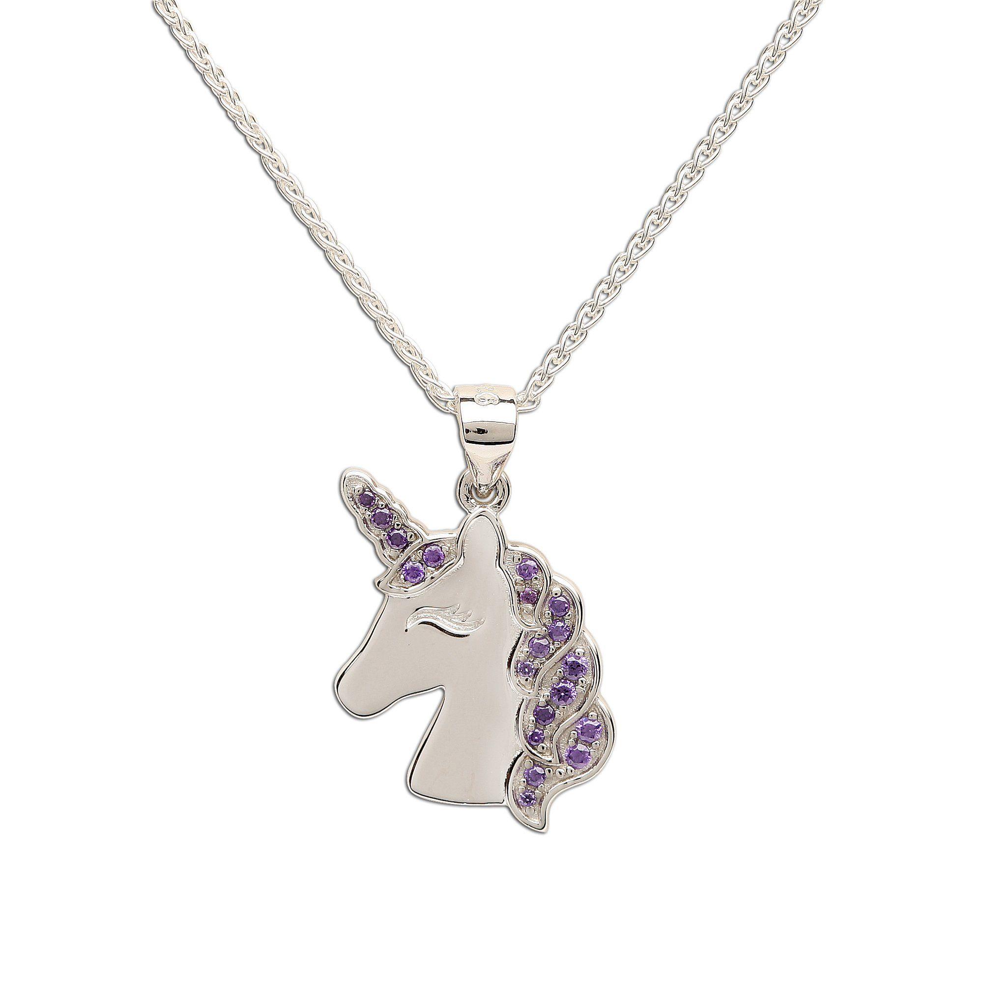 Sterling Silver Unicorn Necklace   FashionJunkie4Life