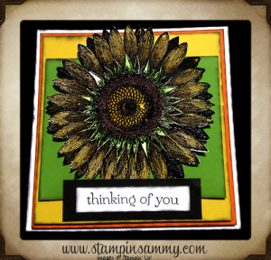 Stampin' Up! Sunflower Thinking of You Card