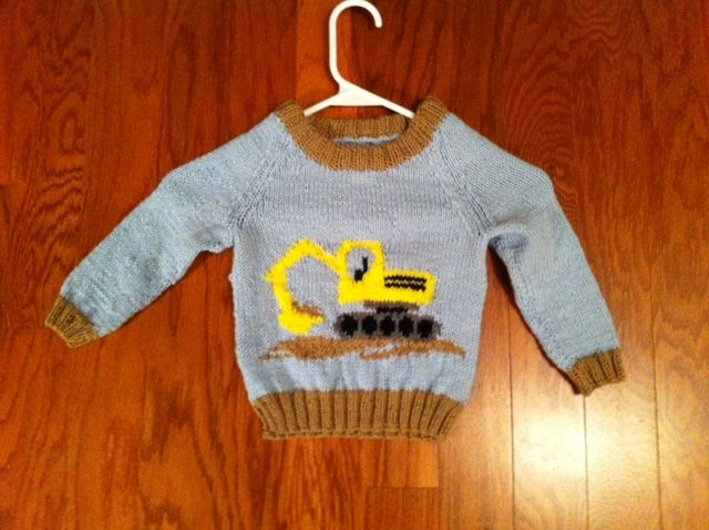 My Grandsons 2nd Birthday Sweater He Loves Diggers I Used The