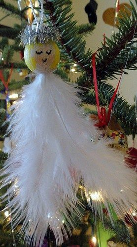 Christmas ● DIY ● Tutorial ● Feather Angel Ornament