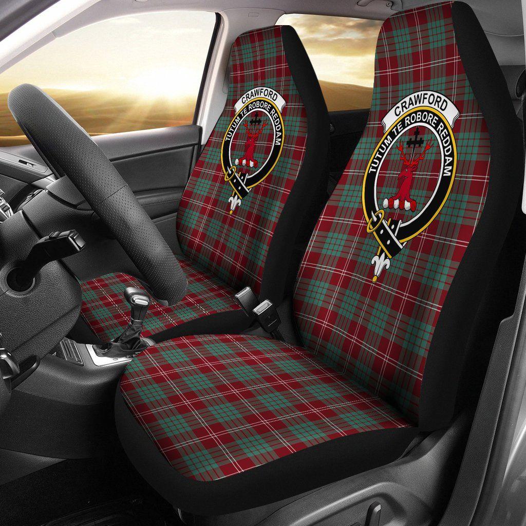 Crawford Tartan Car Seat Cover Clan Badge K7 Car seats