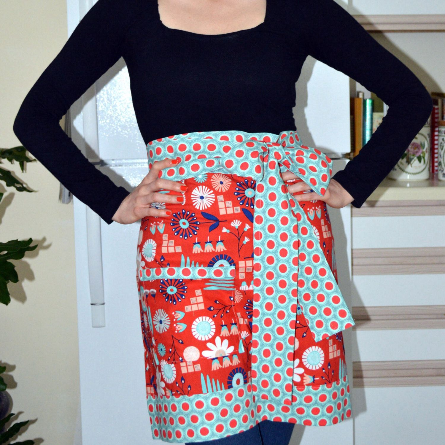 White half apron vintage