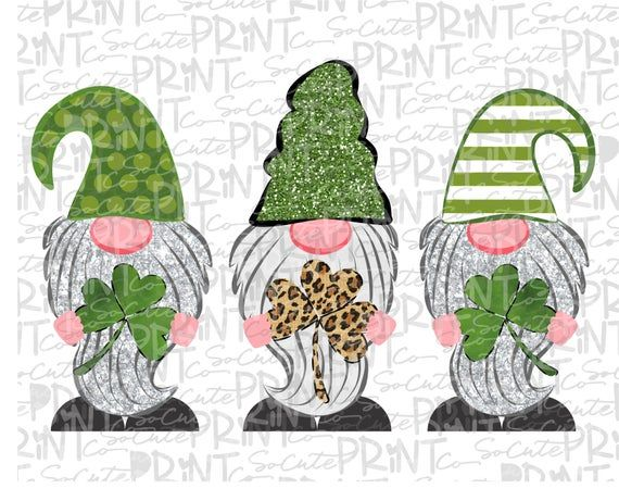 Download St Patricks Day, gnome clipart, leopard 3 gnome png file ...
