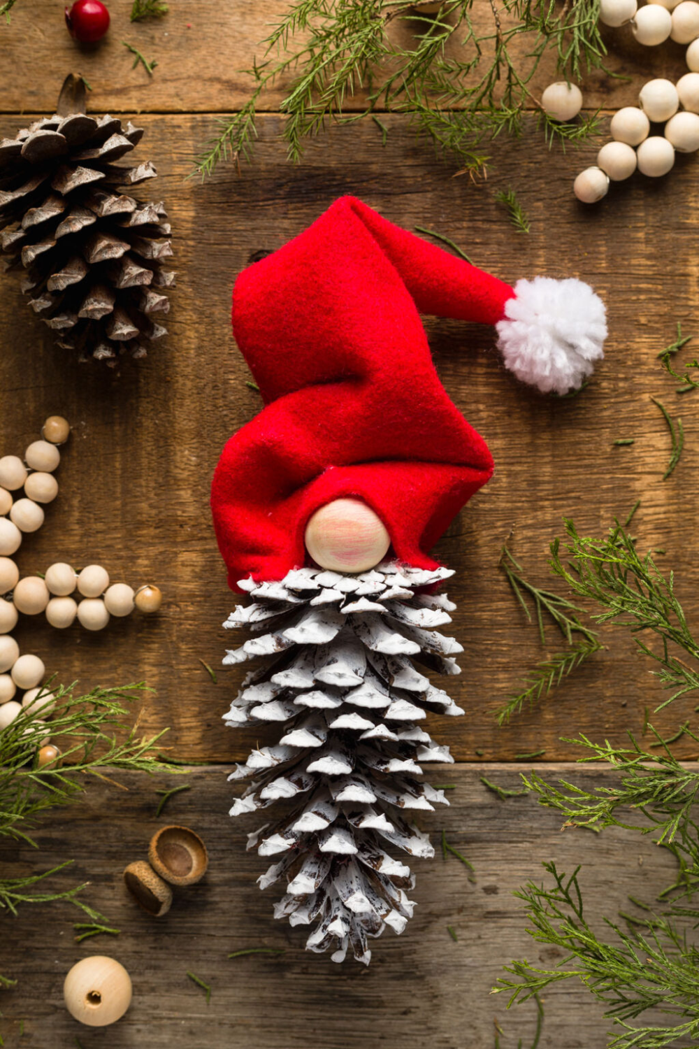 How To Make Easy Christmas Pinecone Gnome Ornaments Olivia Ohern Pinecone Crafts Christmas How To Make Ornaments Kids Christmas Ornaments