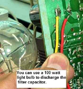 An SMPS repair technique that involves the use of light bulb to - electronic equipment repairer resume