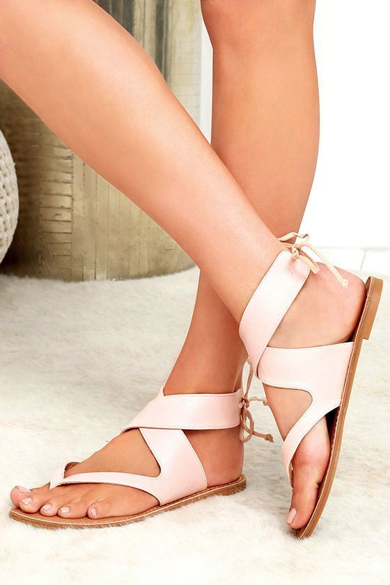 bc9c930da2d63e Wear the Bring It Around Nude Ankle Wrap Thong Sandals on your next  adventure out on