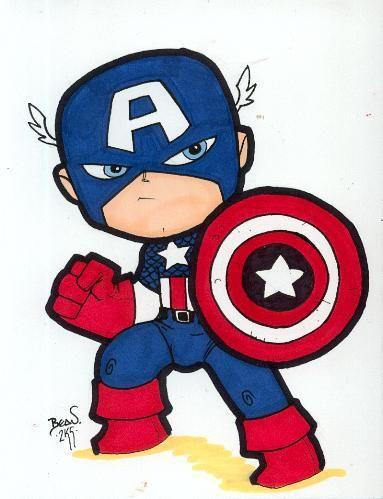 Chibi Captain America 2 By Hedbonstudios On Deviantart Captain America Drawing Superhero Cartoon Captain America Tattoo