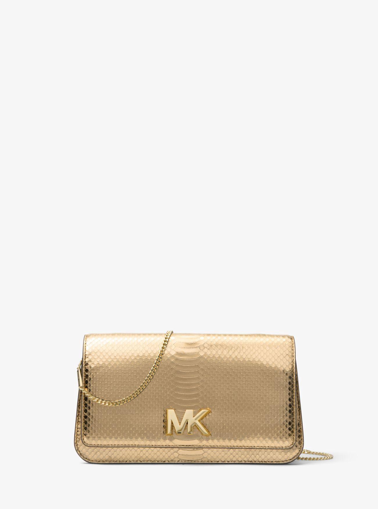 d15baedaa0867b MICHAEL KORS Mott Large Metallic Embossed-Leather Clutch. #michaelkors #bags  #polyester #leather #clutch #metallic #shoulder bags #lining #hand bags #