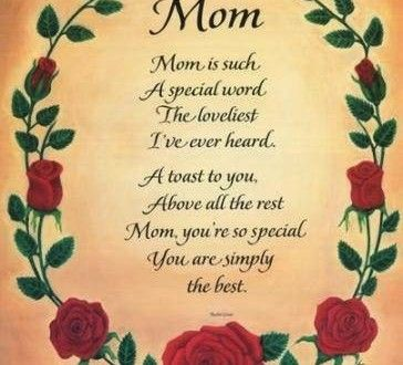 Some of the Mothers Day Poems are for teenage Daughters and kids ...