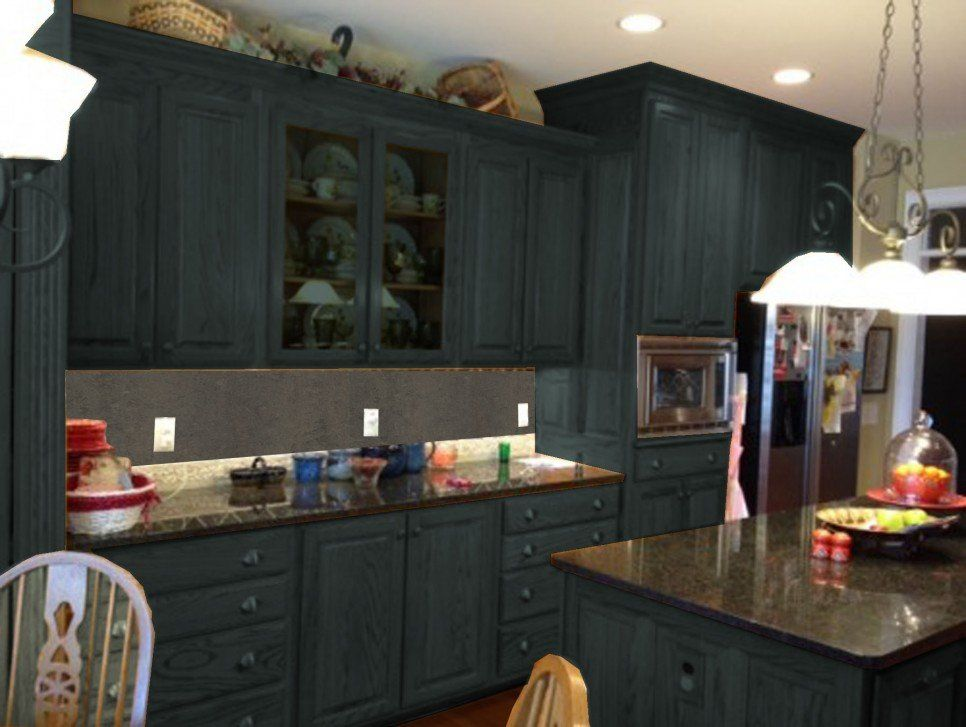 Furniture Dark Gray Color Painting Old Oak Kitchen Cabinets With Wall Paint Ideas Moreover Clip Art Hitting Gong
