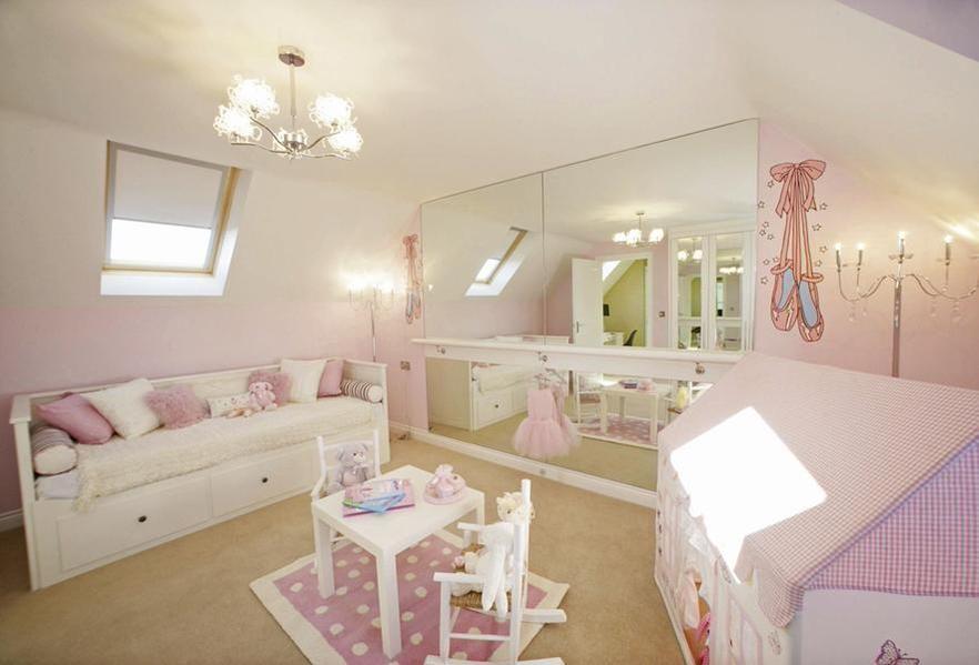 421688c32e0 Silver mirror with ballet bar - Little girls bedroom #alvasbfm #ballet  #bedroom