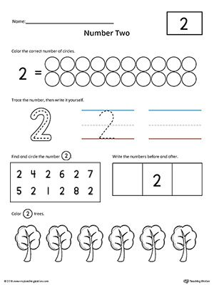 Number 2 Practice Worksheet Preschool Math Numbers Numbers Kindergarten Preschool Number Worksheets Preschool worksheets on numbers