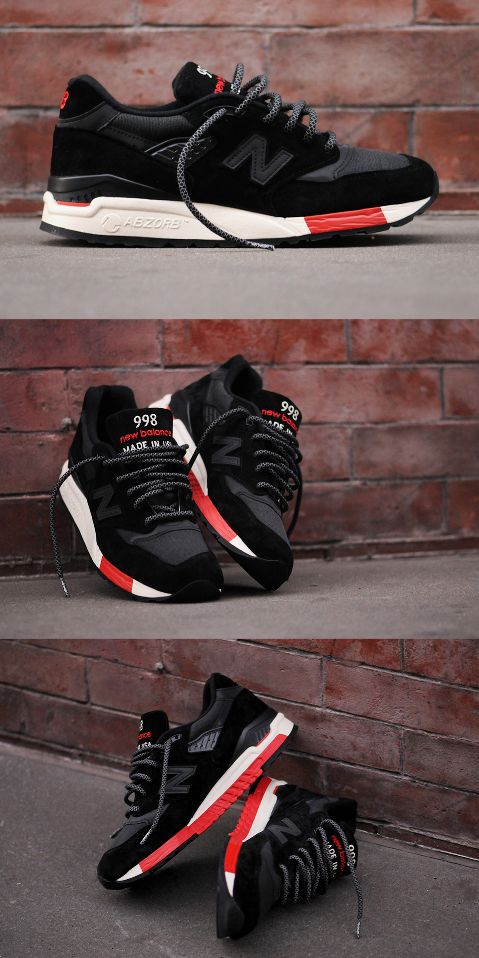 New Balance 998 - Black Red Kith NYC Exclusive  sneakersfashion ... 46a540709f0