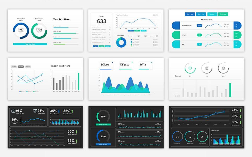 sales dashboard presentation powerpoint template design