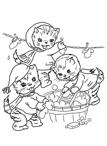 The Three Little Kittens They Washed Their Mittens Coloring Page Kittens Coloring Cat Coloring Page Puppy Coloring Pages