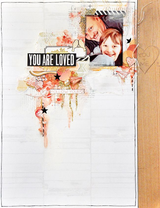 'You Are Loved' by Emma Trout for Webster's Pages using Allison Kreft's 'Sprinkled With Love'.